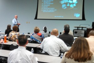 "Dan Noonan presenting ""Your Seat at the Purchasing Table: A Records Management Point of View"""