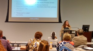 """Pari Swift presenting """"It Takes a Village: A State Agency's Implementation of an Electronic Document Management System"""