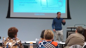 Nate Owens presenting It Takes a Village: A State Agency's Implementation of an Electronic Document Management System